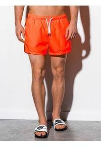 Pomarańczowe szorty Ombre Clothing z aplikacjami