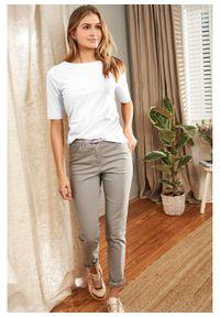 Spodnie ze stretchem Slim Fit bonprix szary. Kolor: szary. Materiał: bawełna #4