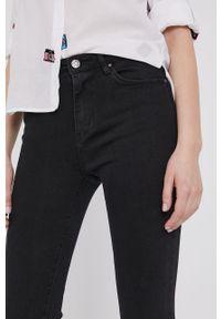 Czarne jeansy Answear Lab wakacyjne, gładkie