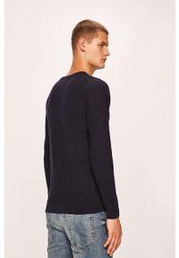 Niebieski sweter Jack & Jones raglanowy rękaw, casualowy, na co dzień