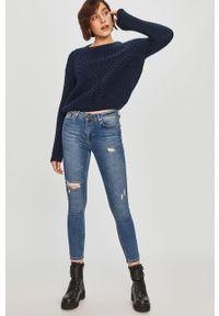 Niebieski sweter Answear Lab z długim rękawem, długi, wakacyjny