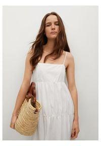 mango - Mango Sukienka letnia Ceci 87068632 Biały Regular Fit. Kolor: biały. Sezon: lato