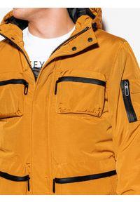 Żółta kurtka Ombre Clothing z aplikacjami, na zimę #8