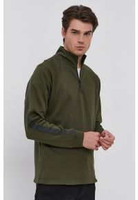 G-Star RAW - G-Star Raw - Bluza. Kolor: zielony. Materiał: dzianina, poliester. Długość rękawa: raglanowy rękaw. Długość: krótkie