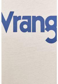 Biały t-shirt Wrangler casualowy, z okrągłym kołnierzem