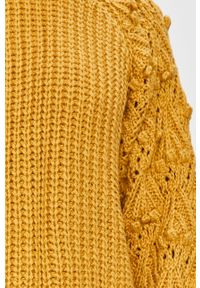 Żółty sweter Answear Lab długi, na co dzień, z długim rękawem, wakacyjny #6