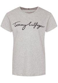 TOMMY HILFIGER - Tommy Hilfiger T-Shirt Heritage Graphic Tee WW0WW24967 Szary Regular Fit. Kolor: szary