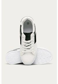 Białe buty sportowe ANSWEAR z cholewką, z okrągłym noskiem