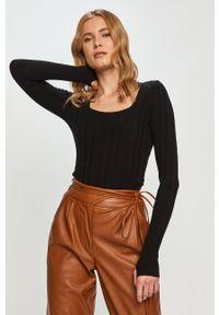 Hugo - Sweter. Kolor: czarny. Materiał: dzianina. Długość rękawa: długi rękaw. Długość: długie