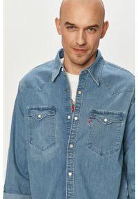 Niebieska koszula Levi's® na co dzień, klasyczna, długa, z długim rękawem