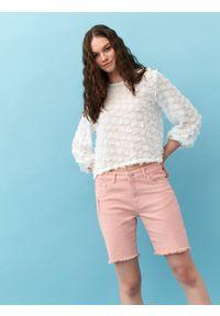 Różowe szorty DRYWASH krótkie, na lato, casualowe