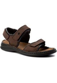 Brązowe sandały Josef Seibel na lato, na co dzień, casualowe