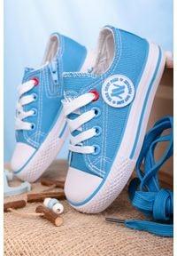 Casu - niebieskie trampki sznurowane casu 083k. Kolor: niebieski