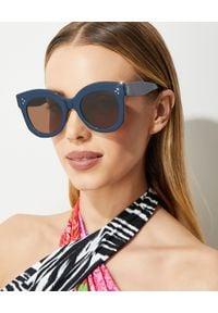 CELINE - Okulary przeciwsłoneczne. Kolor: niebieski