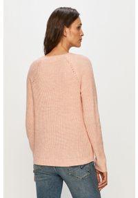 Różowy sweter Vila na co dzień, z długim rękawem