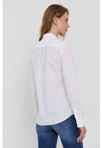 Pinko - Koszula. Okazja: na co dzień. Kolor: biały. Materiał: tkanina. Długość rękawa: długi rękaw. Długość: długie. Wzór: gładki. Styl: casual
