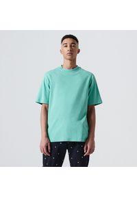 Cropp - Koszulka basic oversize - Turkusowy. Kolor: turkusowy