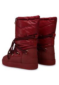 Czerwone śniegowce Inuikii z cholewką