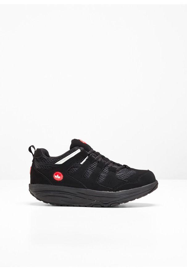 Czarne buty sportowe bonprix na platformie, na co dzień, na fitness i siłownię