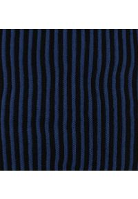 Komin Niebiesko-Granatowy w Paski Jesienno-Zimowy Dziergany, Składany na Dwa Razy, Męski -Pako Jeans. Kolor: niebieski. Materiał: akryl. Wzór: prążki, paski. Sezon: zima, jesień