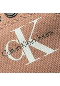 Różowe półbuty Calvin Klein Jeans eleganckie, z cholewką