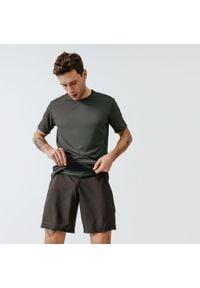 KALENJI - Koszulka do biegania męska Kalenji Run Dry+. Kolor: brązowy, wielokolorowy, zielony. Materiał: poliester, elastan, materiał. Sport: bieganie