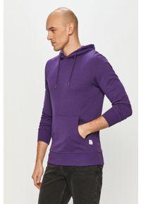 Jack & Jones - Bluza. Typ kołnierza: kaptur. Kolor: fioletowy. Materiał: dzianina, bawełna, poliester. Wzór: gładki #4