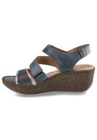 Florance - Sandały FLORANCE 22976 Bleu Jeans. Materiał: jeans