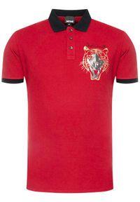 Czerwona koszulka polo Just Cavalli polo