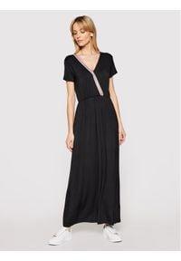 Liu Jo Sport Sukienka codzienna TA1213 J6998 Czarny Regular Fit. Okazja: na co dzień. Kolor: czarny. Typ sukienki: proste, sportowe. Styl: sportowy, casual