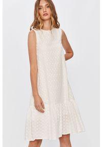Biała sukienka Answear Lab bez rękawów, na co dzień, wakacyjna, mini