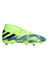 Adidas - Buty piłkarskie korki dla dzieci adidas Nemeziz 19.3 FG FV4002. Zapięcie: zamek. Materiał: mesh, materiał, syntetyk. Szerokość cholewki: normalna. Sport: piłka nożna