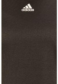 Czarna bluzka adidas Performance z aplikacjami, na co dzień