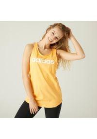 Adidas - Koszulka bez rękawów fitness Linear. Materiał: bawełna. Długość rękawa: bez rękawów. Sport: fitness