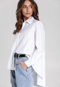 Renee - Biała Koszula Good Vibes Only. Typ kołnierza: kołnierzyk klasyczny. Kolor: biały. Długość rękawa: długi rękaw. Długość: długie. Wzór: jednolity, gładki, aplikacja. Styl: klasyczny, elegancki