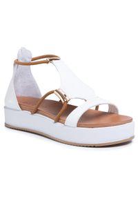 Białe sandały Inuovo z aplikacjami, na co dzień, casualowe