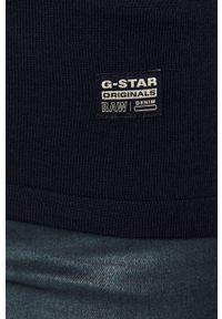 Niebieski sweter G-Star RAW z długim rękawem, casualowy