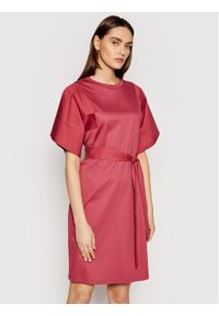 Czerwona sukienka Weekend Max Mara prosta, na co dzień