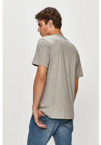 Szary t-shirt Colmar casualowy, z nadrukiem