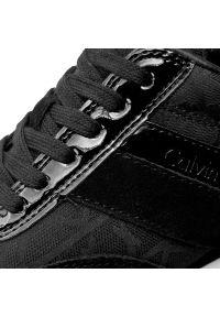 Czarne półbuty Calvin Klein Jeans z cholewką, casualowe