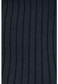 Vila - Sweter. Typ kołnierza: golf. Kolor: czarny. Materiał: wiskoza, dzianina, materiał. Długość rękawa: długi rękaw. Długość: długie