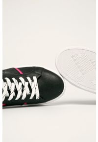 Czarne buty sportowe Wrangler z cholewką, na sznurówki