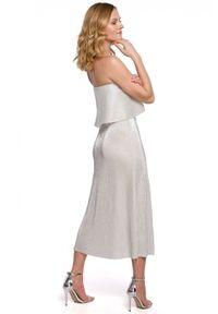 Sukienka maxi, z odkrytymi ramionami