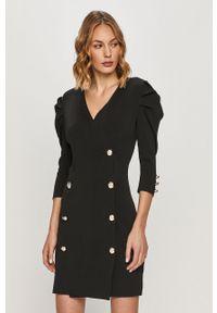 Czarna sukienka Morgan prosta, casualowa