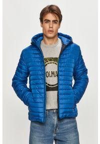 Niebieska kurtka Geox casualowa, gładkie, z kapturem