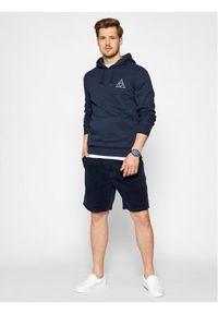 HUF Bluza Essentials Tt PF00100 Granatowy Regular Fit. Kolor: niebieski