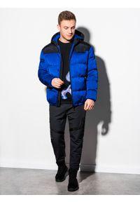 Niebieska kurtka Ombre Clothing na zimę