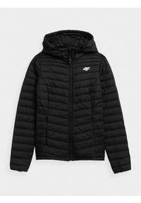Czarna kurtka zimowa 4f