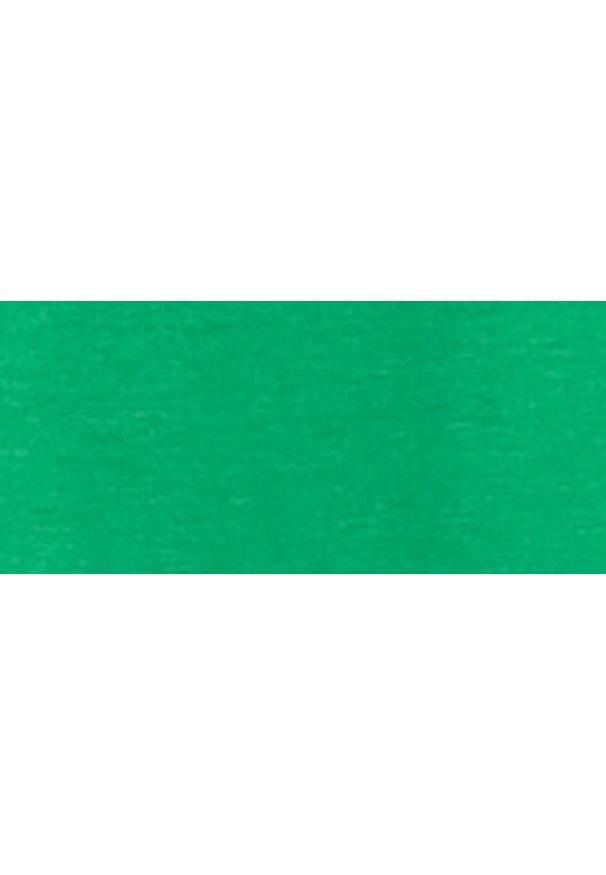 Zielony t-shirt Monnari krótki, z krótkim rękawem, z napisami