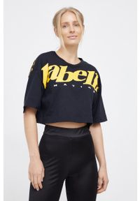 LABELLAMAFIA - LaBellaMafia - T-shirt bawełniany. Kolor: czarny. Materiał: bawełna. Wzór: nadruk